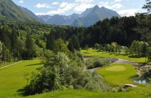 Footgolf igrišče na golf igrišču Golf Club Bovec