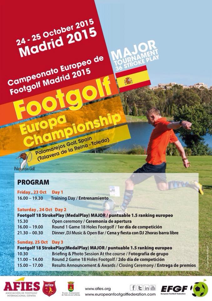 Footgolf Prvenstvo Evropa Madrid 2015